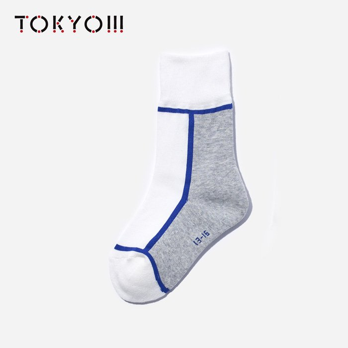 TOKYO!!!×CHICSTOCKS  KIDS 01×70 Off White×Blue