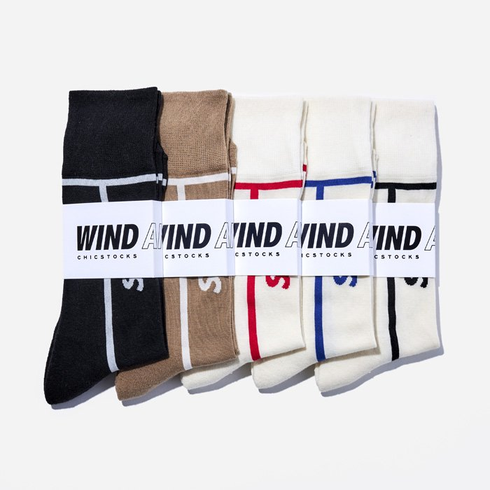 WIND AND SEA×CHICSTOCKS LINE SOX