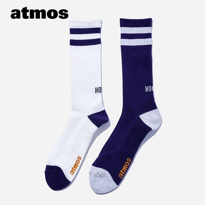 atmos×CHICSTOCKS  HOOPS リブソックス  パープル