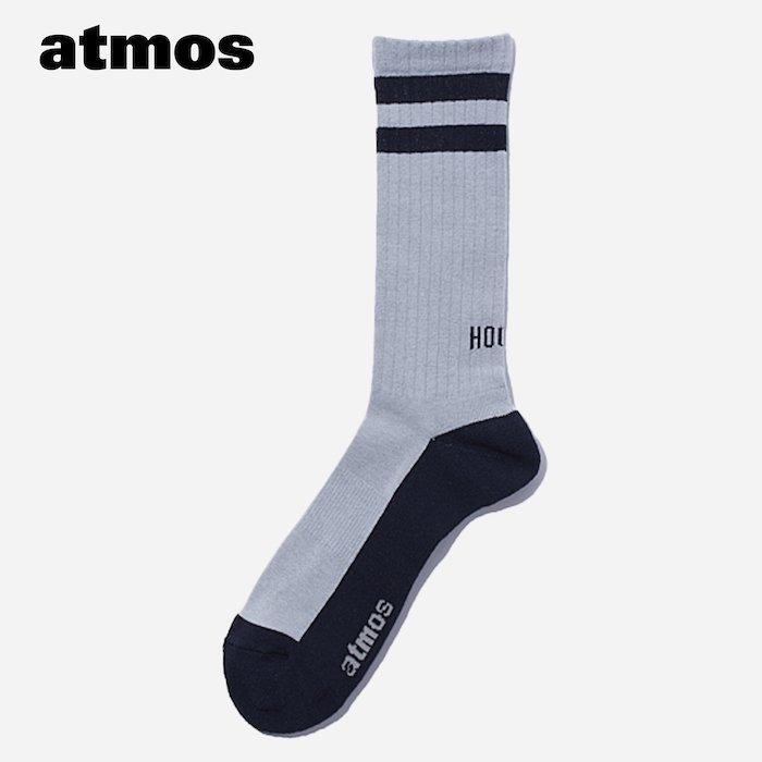 atmos×CHICSTOCKS  HOOPS リブソックス  ネイビー×グレー