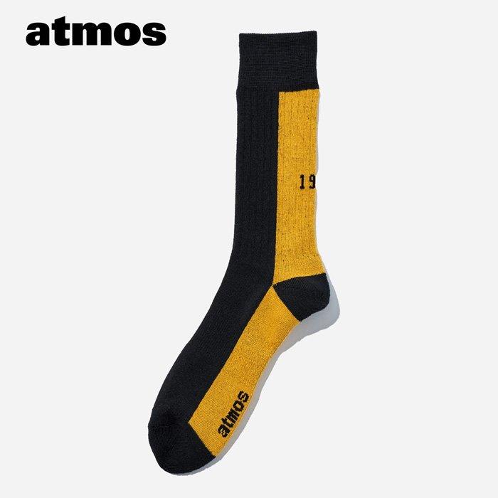 atmos×CHICSTOCKS  1985 リブソックス  イエロー×ブラック