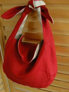 結ぶバッグ型紙