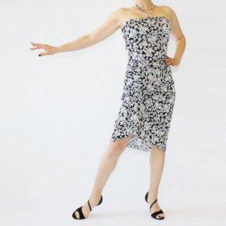 チューブトップドレス<br>ペイズリー(黒)