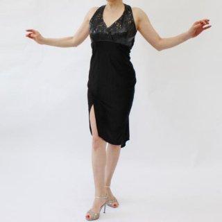 Style VESPA Dress<br>スパンコールBK