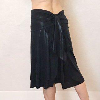 テイルドレープスカート BK