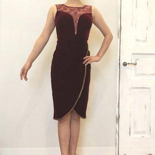 【Sissy y Daisy】 ベロアワインレッドドレス