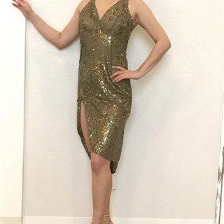 オリジナルドレス ビジューグリーン
