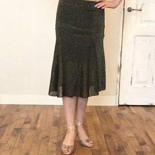 オリジナル ブラックラメスカート