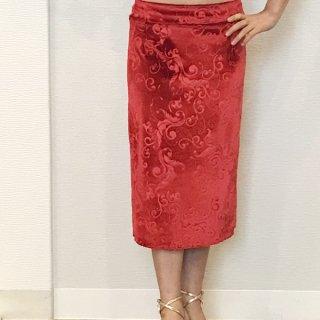 オリジナル レッドアラベスクスカート