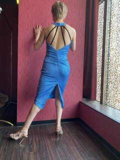 【エレガンシア 】青 ブリリアントドレス|アルゼンチンタンゴ衣装&シューズ専門店 Elegancia