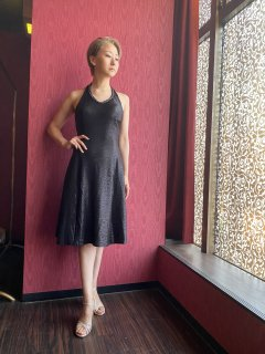 ブラックフレアーアルゼンチンタンゴドレス