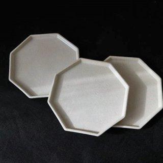 作山窯 Hachikaku 八角たたら皿 3枚揃
