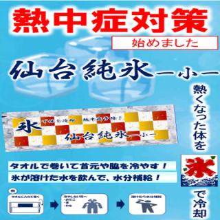 仙台純氷(小) 体冷却用氷 1ケース(400g×20袋入り)