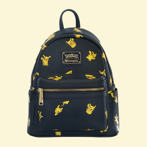 LOUNGEFLY × POKEMON PIKACHU PRINT MINI FAUX LEATHER BACKPACK / ラウンジフライ ポケモン バックパック