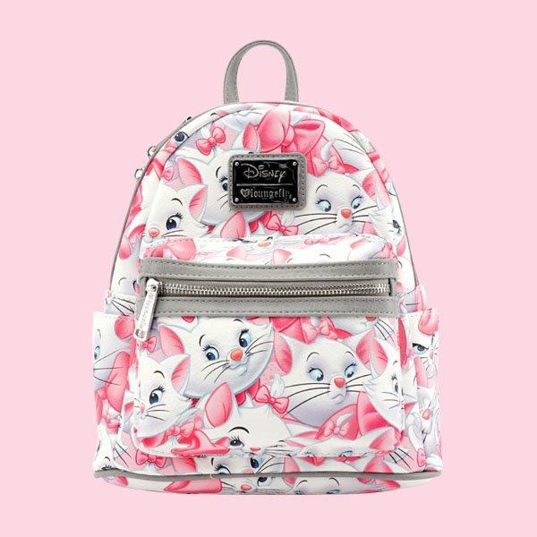 LOUNGEFLY × DISNEY MARIE MINI FAUX LEATHER BACKPACK / ラウンジフライ ディズニー バックパック