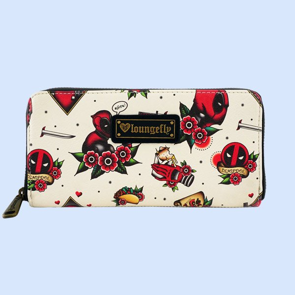 LOUNGEFLY × MARVEL DEADPOOL TATTOO FLASH PRINT WALLET / ラウンジフライ マーベル ウォレット