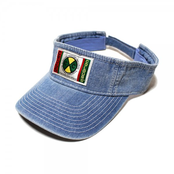 CROSS COLOURS CLASSIC WOVEN LABEL VISOR [ VINTAGE INDIGO ] / クロスカラーズ バイザー