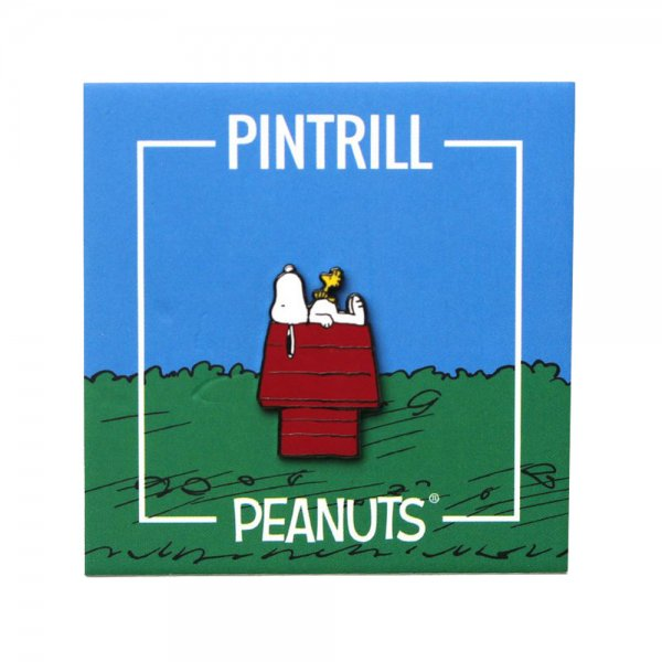 PINTRILL × PEANUTS SNOOPY AND WOODSTOCK HOUSE PIN / ピントリル ピーナッツ ピンズ