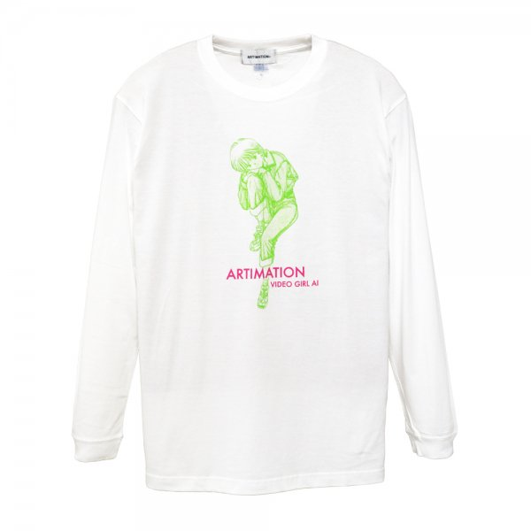 ARTIMATION × 電影少女 DENIM STYLE LONG SLEEVE TEE [ WHITE ] / アーティメーション Tシャツ