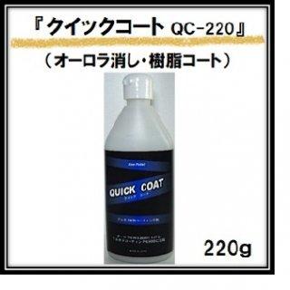 プラスティ QC-220 クイックコート(コーティング剤) 220g / プラスチックパーツ ノンシリコン ノンオイル コンパウンド 水性 オーロラ 耐スリ スクラッチシールド