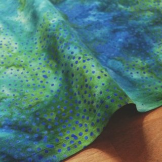 カットクロス DOT BATIKS 【Jade Blue 】