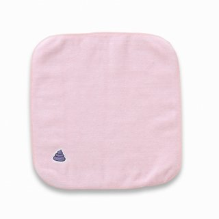 プレゼントに多いみたい うんこ タオルハンカチ ライトピンク×ライトパープル