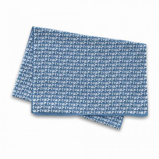 うんこ伝統注染(本染め)日本手拭い 超長尺 ライトブルー