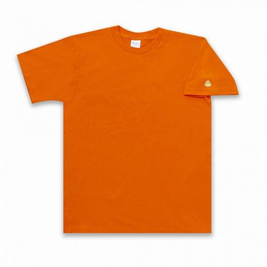 うんこ 半袖Tシャツ 袖口タイプ オレンジ×イエロー