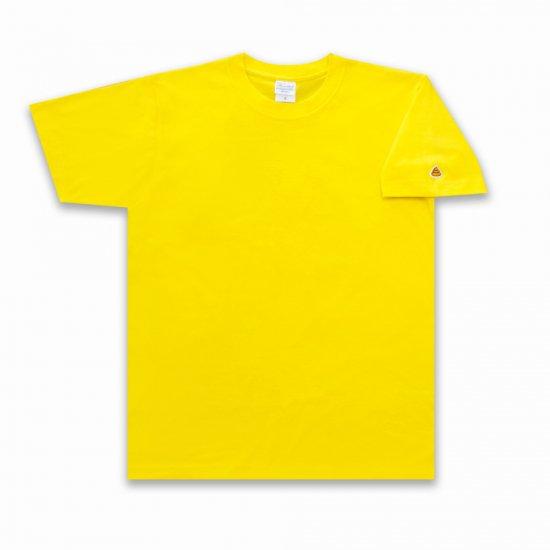 目が痛いほど眩しいうんこ うんこ 半袖Tシャツ 袖口タイプ デイジー×オレンジ