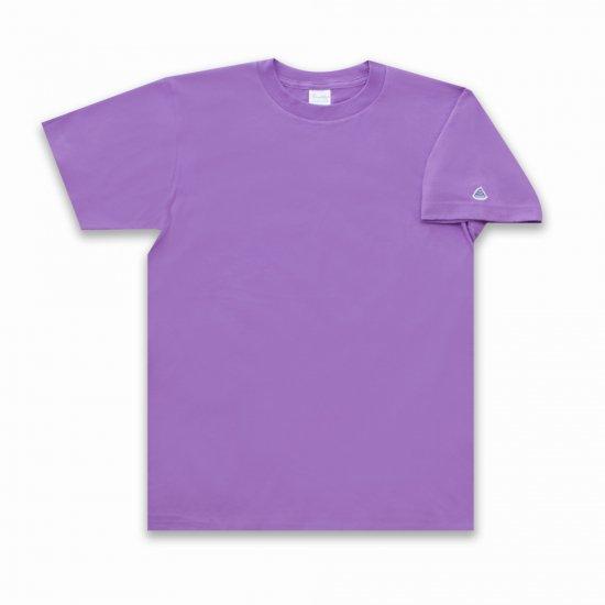 うんこ 半袖Tシャツ 袖口タイプ ラベンダー×ライトパープル