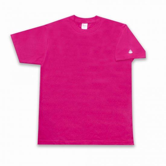 女友達が着てます! うんこ 半袖Tシャツ 袖口タイプ ホットピンク×ホワイト