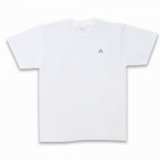 <img class='new_mark_img1' src='https://img.shop-pro.jp/img/new/icons34.gif' style='border:none;display:inline;margin:0px;padding:0px;width:auto;' />安い! うんこ半袖Tシャツ ホワイト×シルバー