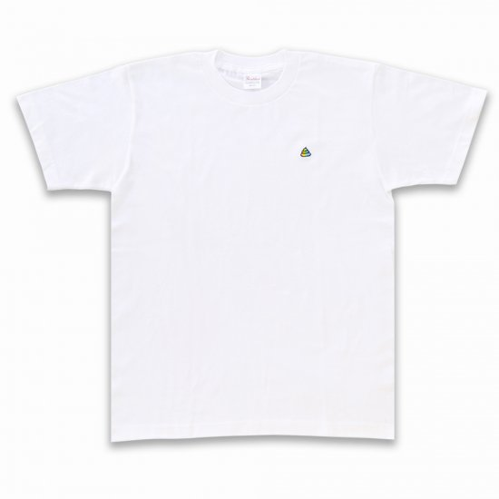 <img class='new_mark_img1' src='https://img.shop-pro.jp/img/new/icons26.gif' style='border:none;display:inline;margin:0px;padding:0px;width:auto;' />来た!うんこ半袖Tシャツ ホワイト×レインボー