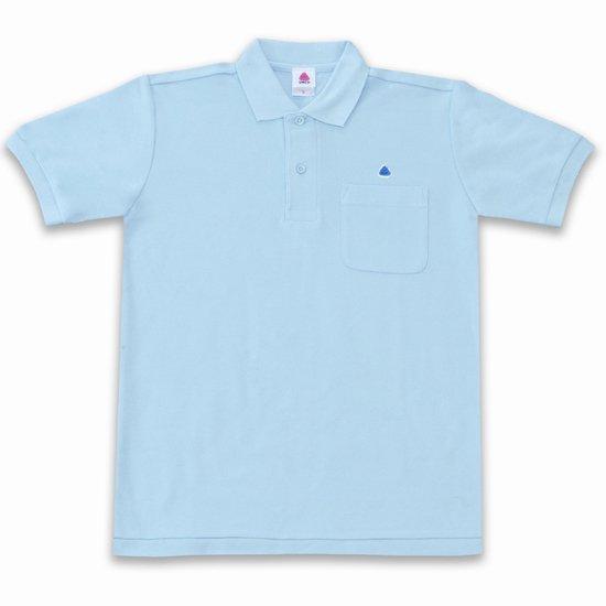 うんこ半袖ポロシャツ サックス×ブルー