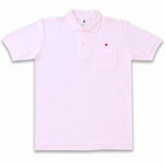 うんこ半袖ポロシャツ ピンク×ピンク