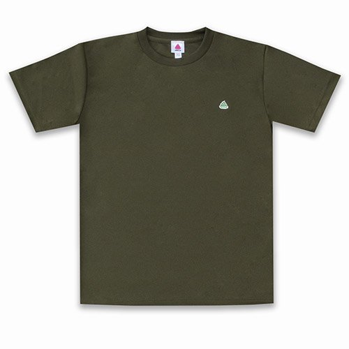 うんこドライTシャツ アーミーグリーンxグリーン