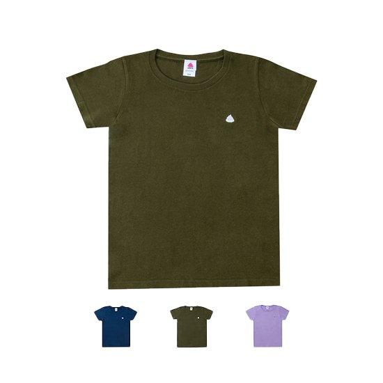 うんこレディースTシャツ ホワイトxレインボー