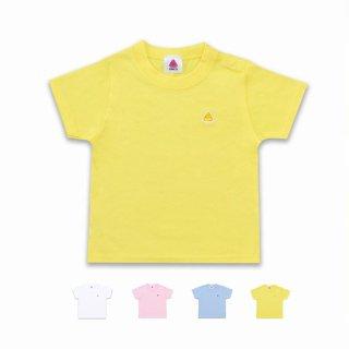 うんこベビーTシャツ ホワイトxレインボー 90