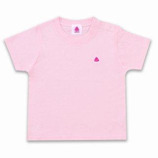 うんこベビーTシャツ ライトピンクxピンク