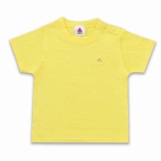 うんこベビーTシャツ イエローxイエロー 90