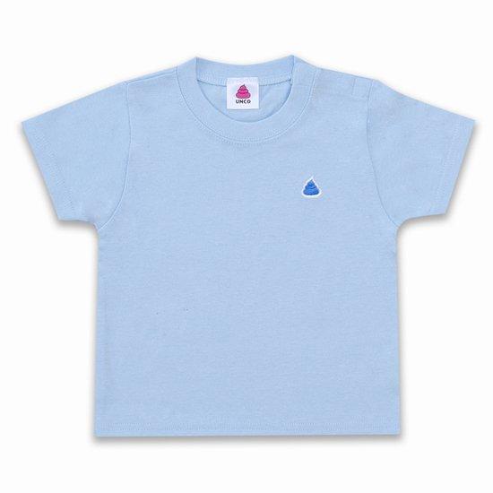 うんこベビーTシャツ ライトブルーxブルー
