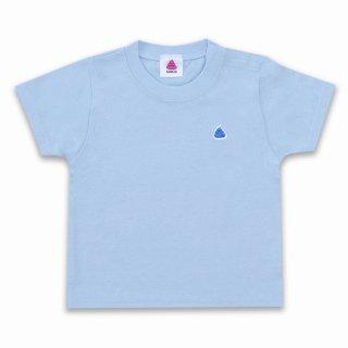 うんこベビーTシャツ ライトブルーxブルー 90