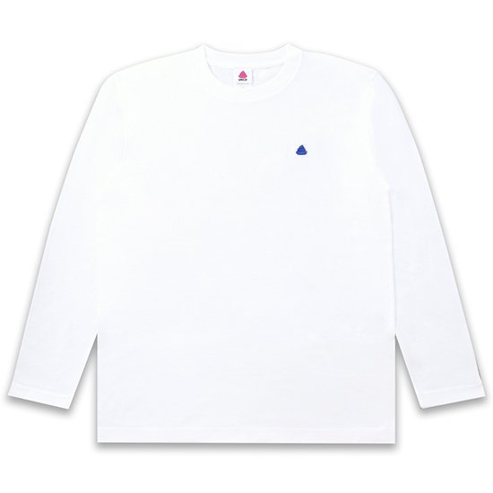 うんこ ヘビーウェイト長袖Tシャツ ホワイト×ハナコン