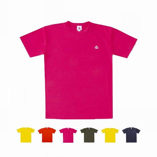 うんこドライTシャツ 蛍光イエローxペールグリーン