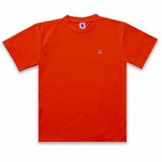 うんこドライTシャツ 蛍光オレンジー×ゴールド