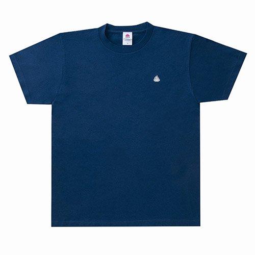 うんこ 半袖Tシャツ インディコ×ホワイト