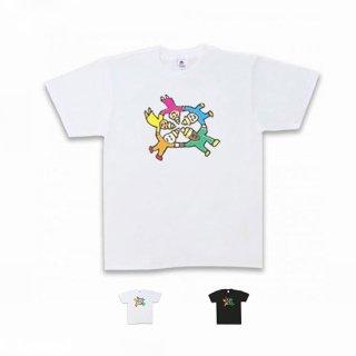 Message T-shirt うんこファイブ ホワイト