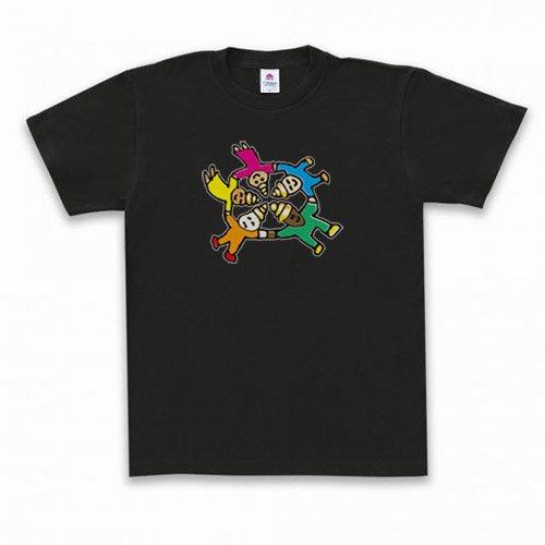 Message T-shirt うんこファイブ ブラック
