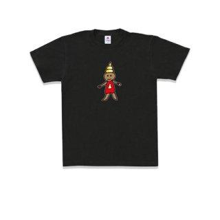 Message T-shirt うんこちゃんレッド ブラック