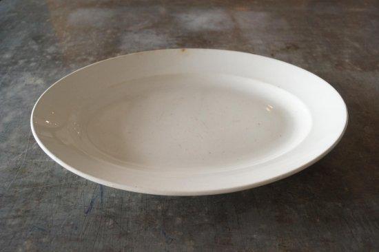オーバル白大皿